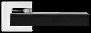 Дверные ручки MVM Z-1410 BLACK-CP черный/полированный хром