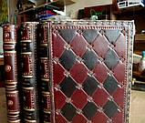 Кожаная обложка блокнот ежедневник ручной работы винтажный  формат А5, фото 3