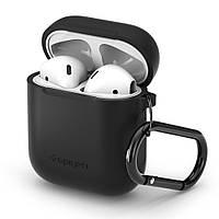 Чехол силиконовый Spigen для наушников Apple AirPods, Black (066CS24808)
