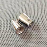 Втулка фиксатор провода  (Хром) /метал/ с внутренней резьбой М-10, фото 1
