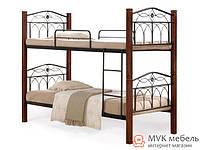 Кровать 2-х ярусная Миранда М (каштан)