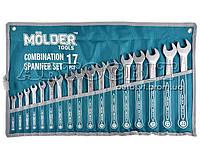Набор ключей MOLDER рожково-накидных комбинированных 6-24 мм 17 ед. MT58117