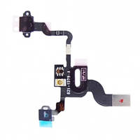 Шлейф (Flat, Flex cable) Apple iPhone 4 c кнопкой включения и датчиком приближения