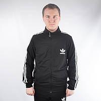 Мужская фирменная кофта на замке Adidas (черная)