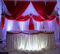 Оформление торжеств, декор для свадьбы, оформление цветами и тканями