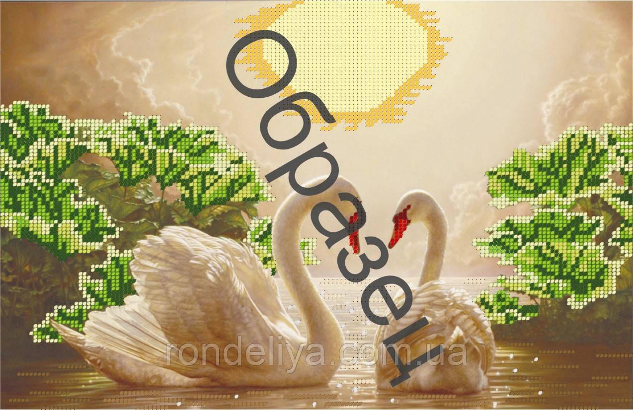 Схема для вишивки бісером «Два білих лебедя»