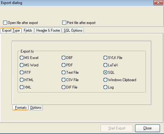 Экспорт записей в другие форматы для интеграции