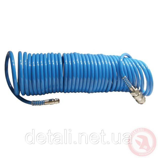 Шланг спиральный полиуретановый 5.5*8мм, 5м Intertool