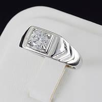 Видное мужское кольцо с кристаллами Swarovski, покрытое золотом 0521