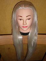 Манекен головы со штативом. Блондин. Волосы 60 см.