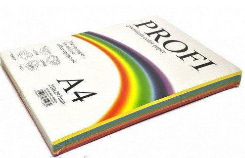 Набор цветной бумаги PROFI 80г 5цв.х50л Deep 82А (насыщеный)