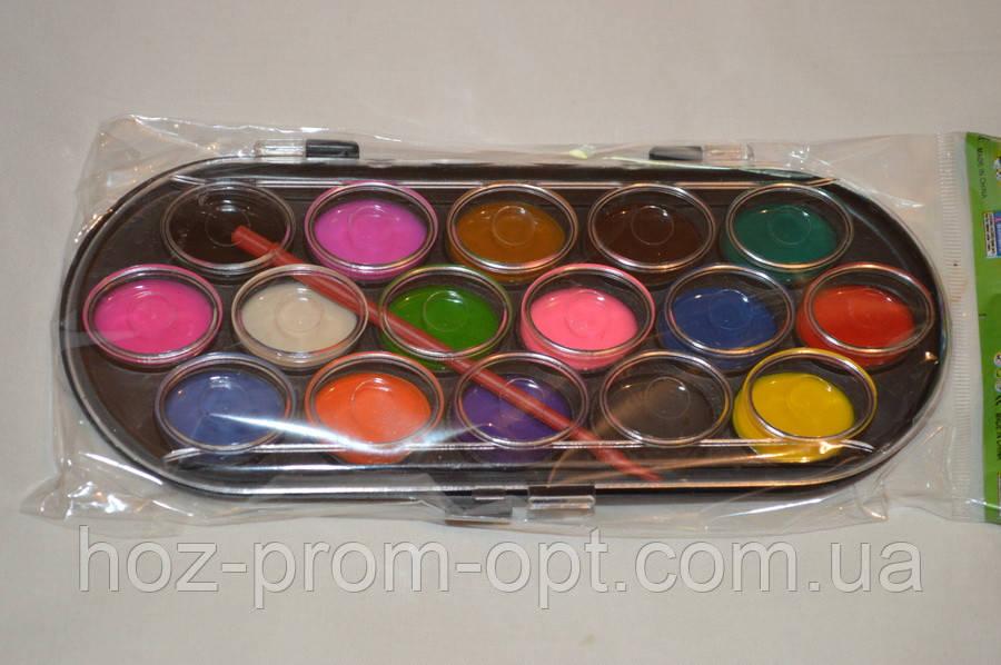 Краски акварельные 16 цветов.