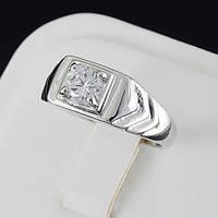 Видное мужское кольцо с кристаллами Swarovski, покрытое золотом 0521 19 Белый