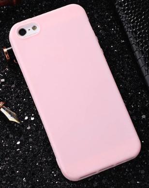 Чехол из тонкого матового TPU для Iphone 7 plus розовый / чехол на айфон / чохол / ультратонкий / бампер / накладка 7 plus розовый
