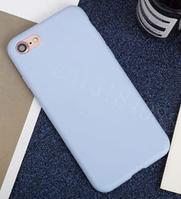 Чехол из тонкого матового TPU для Iphone 8 plus бело-голубой / чехол на айфон / чохол / ультратонкий / бампер / накладка , фото 1