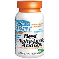 Альфа-липоевая кислота (Alpha Lipoic Acid), Doctor's Best, 600 мг, 180  капсул