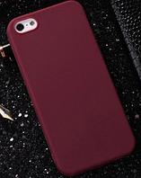 Чехол из тонкого матового TPU для Iphone 8 plus коричневый / чехол на айфон / чохол / ультратонкий / бампер / накладка , фото 1