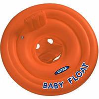 Надувной круг со спинкой Intex 56588 Оранжевый , фото 1