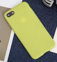 Чехол накладка для iPhone 7 TPU салатовый, фото 1