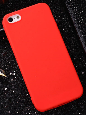 Чехол накладка для iPhone 7 TPU красный