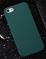 Чехол из тонкого матового TPU для Iphone 8 plus зеленый / чехол на айфон / чохол / ультратонкий / бампер / накладка , фото 1
