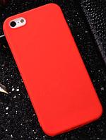 Чехол из тонкого матового TPU для Iphone 7 plus красный / чехол на айфон / чохол / ультратонкий / бампер / накладка , фото 1
