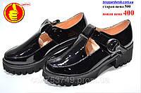 Туфли женские лаковые черные( р36-38)