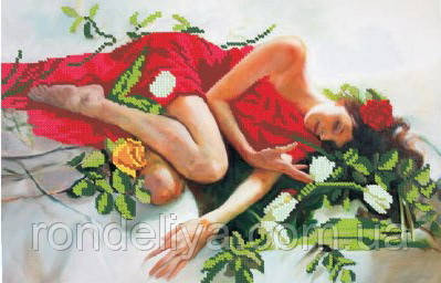 Схема для вышивки бисером «Спящая красавица»