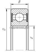 Подшипник - 180214 (6214 RS) 4 ГПЗ