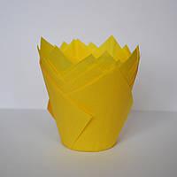 Капсула для кексів (тюльпан жовтий) (10 шт.)