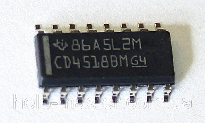 Мікросхема CD4518BM (SOP-16)