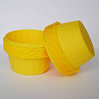 Капсула плотная для кексов(желтая) №171(25 шт.)