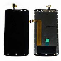 Дисплейный модуль (дисплей и сенсор) для Lenovo S920, черный, оригинал