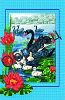 Схема для вышивки бисером «Лебеди и лилии»