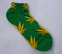 Носки HUF Plantlife зелено-желтые