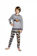 Стильная Практичная Пижама Для Мальчиков Подростков С Надписью  Boom Cornette Польша.158/164 см.