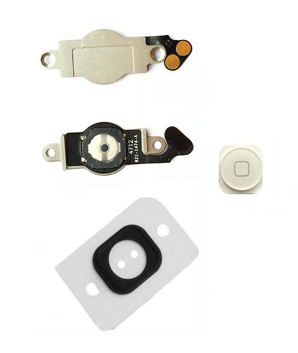 Шлейф (Flat, Flex cable) Apple iPhone 5 с кнопкой меню (Home), белый