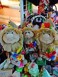 Кукла оберег Домовой с  ягодами и цветами декор, фото 4