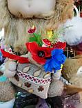 Кукла оберег Домовой с  ягодами и цветами декор, фото 3