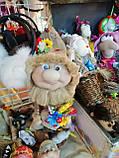 Кукла оберег Домовой с  ягодами и цветами декор, фото 6
