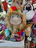 Кукла оберег Домовой с  ягодами и цветами декор, фото 2