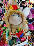 Кукла оберег Домовой с  ягодами и цветами декор, фото 8