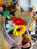 Кукла оберег Домовой с  ягодами и цветами декор, фото 7