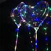 Светодиодный шар бобо bobo Сердце. Воздушный светящийся на палочке с гирляндой в комплекте, фото 4