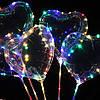 Светодиодный шар бобо bobo Сердце. Воздушный светящийся на палочке с гирляндой в комплекте, фото 5
