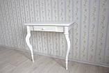 Туалетний столик з натурального дерева білий, фото 5