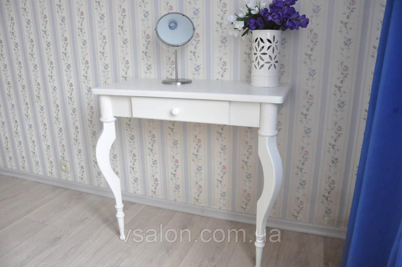 Туалетний столик з натурального дерева білий