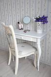 Туалетний столик з натурального дерева білий, фото 3