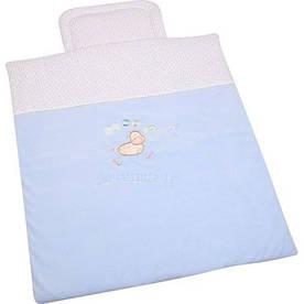 Детский комплект (одеяло + подушка) №1 в коляску WOMAR велюр (70 х 80 см)