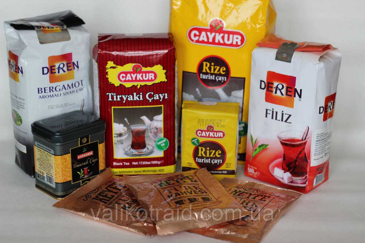 Чай турецкий чёрный мелколистовой Caykur Tiryaki Cayi 500г